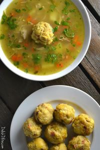 Caldo de Pollo con mofongo is the Puerto Rican version of Matzah Ball Soup. This is the best chicken soup in the world, guaranteed to soothe your soul!