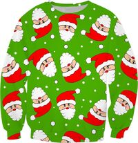 Whirling Santa Green Sweatshirt $59.95