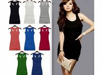 Men Womens Clothing and Accessories ILOVEDIY 2014 Summer Sexy Long Vests Sleeveless Tank Tops Women Many Colors to Pick (Coffee) 2014 fashion summer womens sexy long vests sleeveless tank top dress for women, girls.Colors to pick: Orange, Navy Blu...