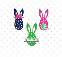 Easter Eggs SVG Cut Files for Cricut and Silhouette.