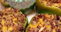 If you're a fan of quinoa, you'll have to make time for this gem:) Healthy Recipes: Quinoa Stuffed Peppers #quinoa #recipes