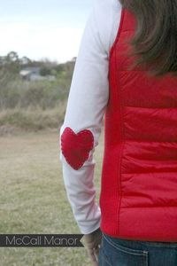 Valentine's {Heart} Shirt | a Silhouette fabric Project - McCall Manor