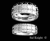 Bands fleur de lis, design by Sal Knight © < #jewelry #oneofkind #specialorder #customize #honest #integrity #diamond #gold #rings #weddingband #anniversary #finejewelry #salknight