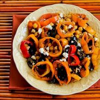 Recipe for Marinated Pepper Salad with Garbanzos, Olives, and Feta