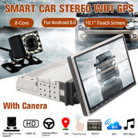 "10.1"" Android 8.0 Quad Core Car Stereo Player GPS Navigation Radio WiFi Camera 1+16G"