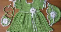 Little Princess Katya Dress, Hat and Bag crochet inspiration