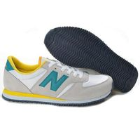 White Grey Green Unisex Running Shoes New Balance 420  Complete your footwear palette with the New Balance 420. Lightweight materials, bold colors and a solid rubber outsole give these retro classics an upbeat feel that will accent any outfit. Unisex H...