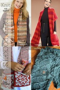 Knit a Pocket Scarf - free patterns and suggestions by DiaryofaCreativeFanatic
