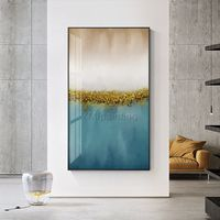 Gold art painting abstract acrylic paintings on canvas original Blue painting extra large Wall pictures framed wall art cuadros abstractos $123.75