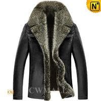 Multifunctional Jackets | Patented Fur Trim Shearling Leather Jackets CW890106 | CWMALLS.COM