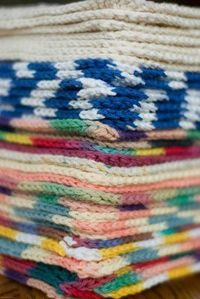 Crochet Dishcloths. This is a simple pattern, but cuter than my standard half double forever and ever dishcloths.