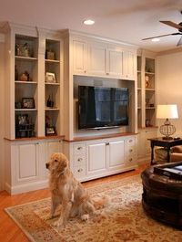 Entertainment center built-in traditional living room