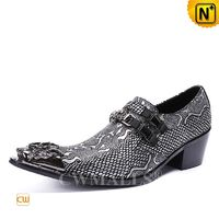 Men Leather Shoes | CWMALLS® Men Embossed Leather Dress Shoes CW708211[Father's Day Gifts]