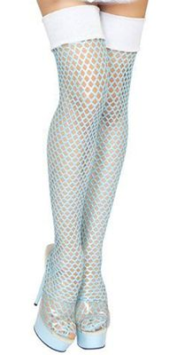 Sexy Large Fishnet Thigh High Stockings Halloween Accessory $21.00