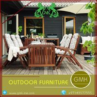 outdoor Choose the best outdoor and garden furniture from the GMK. They are good outdoor furniture suppliers in Dubai and provide all furniture at affordable prices. The furniture choice needs to be carefully chosen to enhance the look of your home. More ...