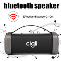CIGII F62 Portable 10W Wireless bluetooth Speaker Subwoofer Surround Sound Support FM TF Card USB AUX