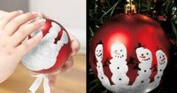 """Hand print ornament, click on the photo or link for more diy ornament ideas. If you like our ideas, become our follower (cool4ideas), we have plenty of them (ideas not followers :D) Bonnie says: use regular preschool """"washable"""" whi..."""