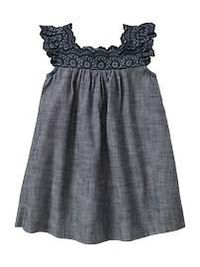 I can't stand all the baby girl clothes!! Two more weeks until we find out!! Eyelet chambray dress
