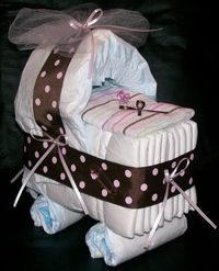 A fun alternative to the traditional diaper cake