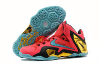 """Hero"" - King LeBron James 11 PS Elite Laser Crimson with Turbo Green/Black Colorway Mens Basketball Sneakers"