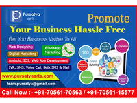 Pursatya Arts is a leading digital marketing company in ambala offering all digital marketing services Such as Search Engine Optimization(SEO),Social Media Marketing(SMO), PPC, E-mail marketing,Online Promotion etc are much common.  For M...