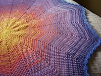 Ravelry: stablewoman's coloration on her sunrise round ripple is amazing. Beautiful free pattern by Lyn's designs and notes on this particular project.