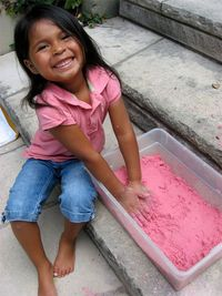 DIY Moon sand! With just a few ingredients you can make this yourself! www.skiptomylou.org #moonsandrecipe #kidscrafts
