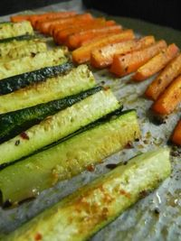 I love my farm fresh veggies!! Here's a really easy way to cook up zucchini and carrots and create a lot of flavor! My trick for tasty vegetables is to cut them
