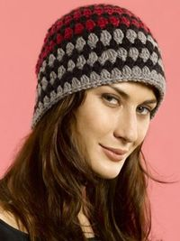 Tri-Color Cloche | Yarn | Free Knitting Patterns | Crochet Patterns | Yarnspirations