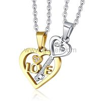 Gullei.com Key in Heart Custom Made Couples Necklaces gift