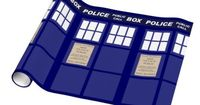 TARDIS Gift Wrap - hmm who will re-pin this??? lol