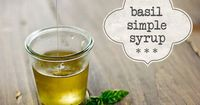 Wondering how to make basil simple syrup? It's easier than you think! In this post I show how you to make basil simple syrup & how to use it