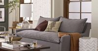 this west elm sofa makes me want to get in my pjs, eat popcorn, and watch movies all day :)