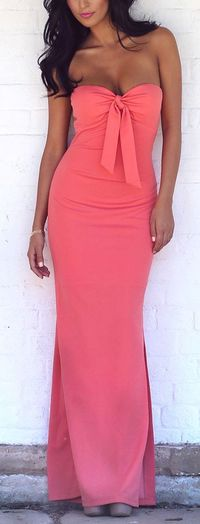 Coral maxi if it had straps and top made to cover a full bust
