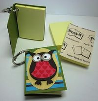 Owl Punch Post-It Notes
