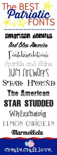 Here are the BEST Patriotic Fonts you will find on the world wide web!