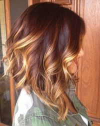 brown hair with blond highlights   ... Sizzling Ombre Hair Color Solutions For Blond, Brown, Red & Black Hair