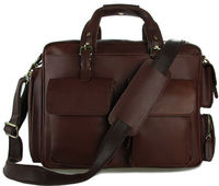Men's Crazy Horse Leather Whiskey Aviator Briefcase Laptop Bag $90.00