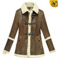 Atlanta Womens Fur Trimmed Sheepskin Coat CW614022