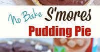 No Bake S'mores Pudding Pie Recipe made with TruMoo Chocolate Marshmallow Milk. Easy and Delicious S'mores Dessert..