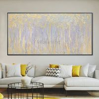 Gold art Abstract Acrylic paintings on canvas Original silver painting large wall art wall Pictures home Decor caudro abstracto hand painted $139.00