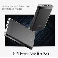 Headphone Amplifier 2.5A Power Bank 2-in-1 Super Bass Audio Earphone for iOS Android