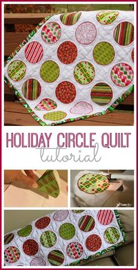 wanting to make a circle quilt? here are step-by-step tutorial instructions to get you started