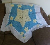 Fill a little one's night with sweet dreams under a starry sky with the Starry Nights Baby Blanket. Crochet this unique looking baby blanket by using simple cro