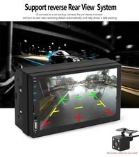 iMars 7009 7 Inch Car Stereo MP5 Player FM Radio bluetooth USB SD Card AUX In Capacitive Touch Screen Support DVR Rear Camera