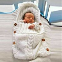 Newborn Infant Knitted Crochet Hooded Sleeping Bag $29.00