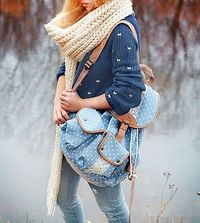 chunky knit scarf fall outfit