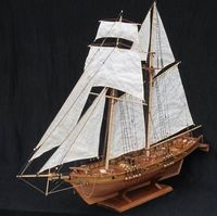 Antique Harvey 1847 Battleship wooden model $129.00