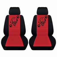Front Seat Covers Fits 2005 to 2007 Ford Mustang Separate Headrest Covers Labrodor Design on Insert $79.99