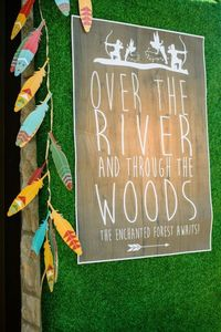 Joint party on the horizon? Your eyes will POP when you see this fabulous Robin Hood & Tinker Bell Enchanted Forest Birthday Party at Kara's Party Ideas